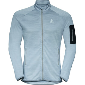 Odlo Steam Midlayer Doorlopende Rits Heren, grey melange